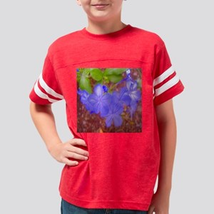DSCF0873 - blue flower magnet Youth Football Shirt