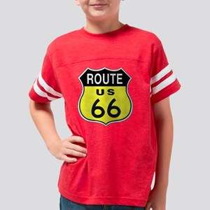 Route 66 black Youth Football Shirt