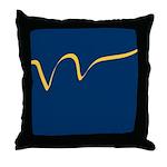 Yellow Ribbon on Blue Throw Pillow