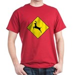 Deer Crossing Sign Red T-Shirt