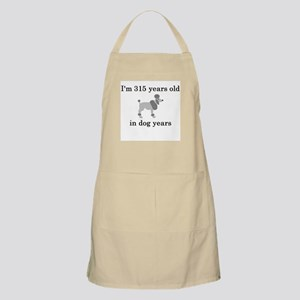 45 birthday dog years poodle Apron