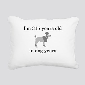 45 birthday dog years poodle Rectangular Canvas Pi