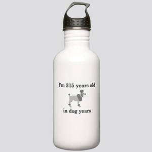 45 birthday dog years poodle Water Bottle