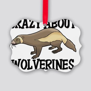 WOLVERINES158 Picture Ornament