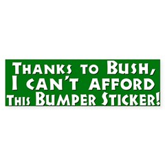 I Can't Afford This Bumper Bumper Sticker