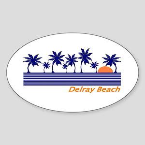Delray Beach, Florida Oval Sticker