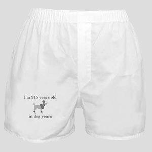 45 birthday dog years poodle Boxer Shorts