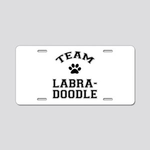 Team Labradoodle Aluminum License Plate