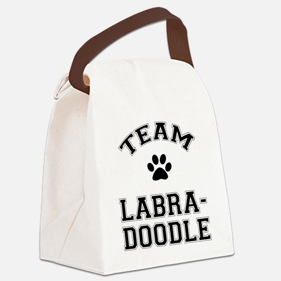 Team Labradoodle Canvas Lunch Bag