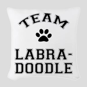 Team Labradoodle Woven Throw Pillow