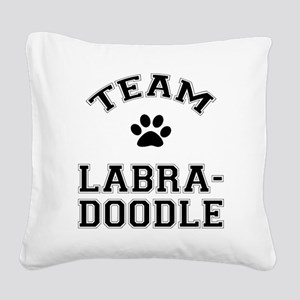 Team Labradoodle Square Canvas Pillow