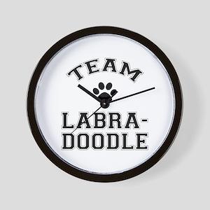 Team Labradoodle Wall Clock