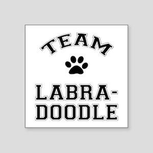 "Team Labradoodle Square Sticker 3"" x 3"""