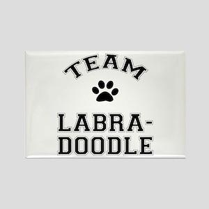 Team Labradoodle Rectangle Magnet
