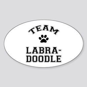 Team Labradoodle Sticker (Oval)