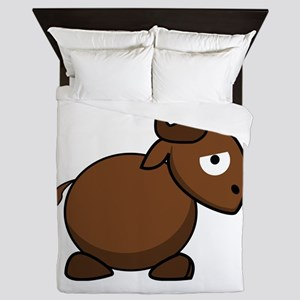 Brown Bull Queen Duvet