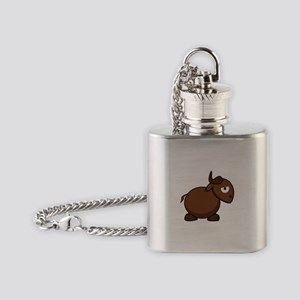Brown Bull Flask Necklace