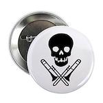 skull & trombones button