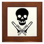 skull & trombones framed tile