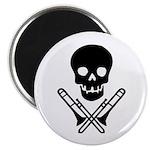 skull & trombones magnet