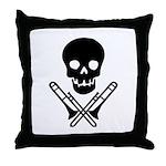 skull & trombones pillow
