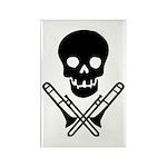 skull & trombones rectangle magnet (100 pack)