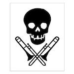 skull & trombones small poster