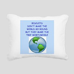 biscuits Rectangular Canvas Pillow