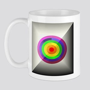 RAINBOW OVAL RINGS BUTTON Mug