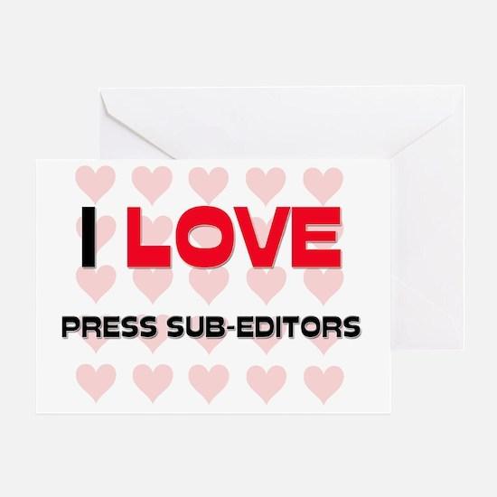 PRESS-SUB-EDITORS83 Greeting Card