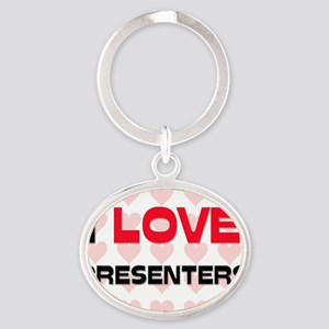 PRESENTERS101 Oval Keychain