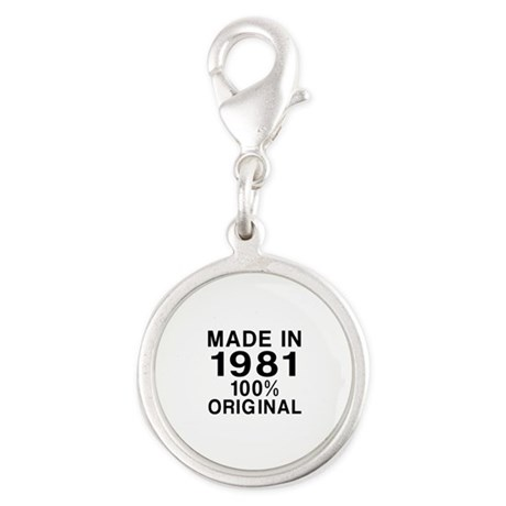 Made In 1981 Silver Round Charm