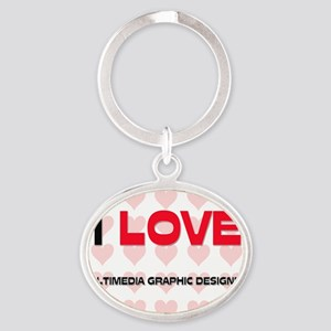 MULTIMEDIA-GRAPHIC-D42 Oval Keychain
