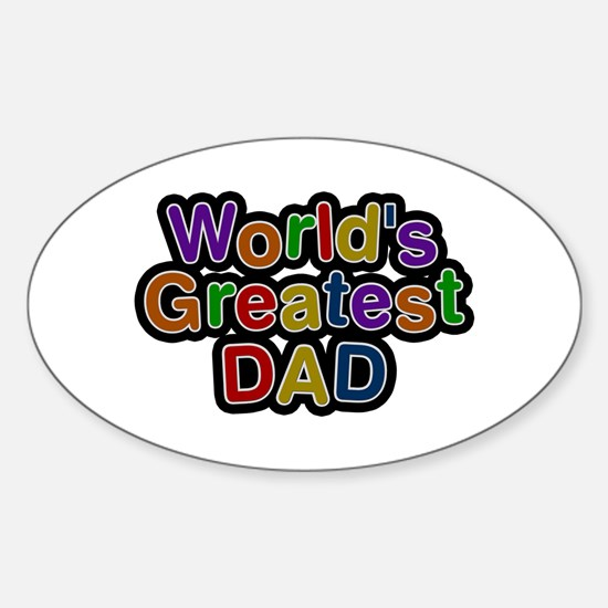 World's Greatest Dad Oval Decal