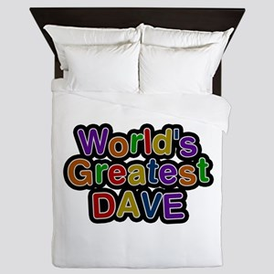 World's Greatest Dave Queen Duvet