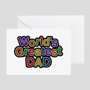 Worlds best dad greeting cards cafepress worlds greatest dad greeting card m4hsunfo