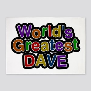 World's Greatest Dave 5'x7' Area Rug