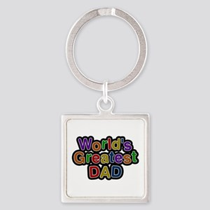 World's Greatest Dad Square Keychain