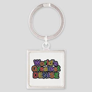 World's Greatest Denise Square Keychain