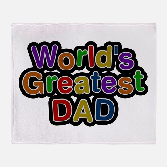 World's Greatest Dad Throw Blanket