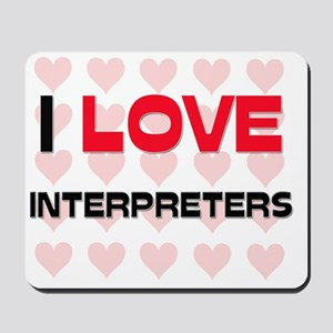 INTERPRETERS6 Mousepad
