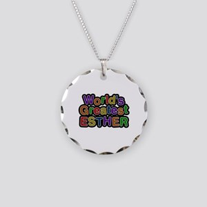 World's Greatest Esther Necklace Circle Charm