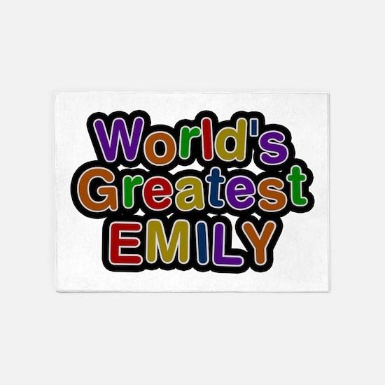 World's Greatest Emily 5'x7' Area Rug