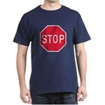 Stop Sign Blue T-Shirt