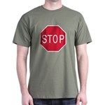 Stop Sign Green T-Shirt