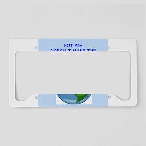 pot pie License Plate Holder