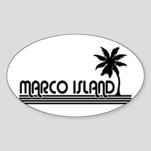 Marco Island, Florida Oval Sticker
