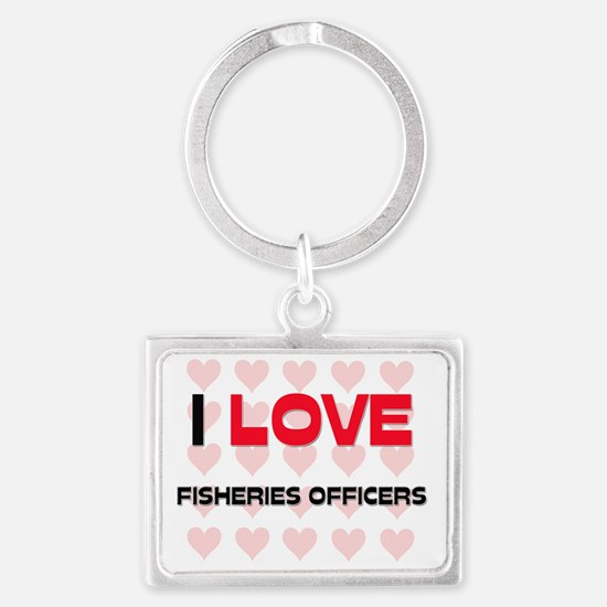 FISHERIES-OFFICERS4 Landscape Keychain