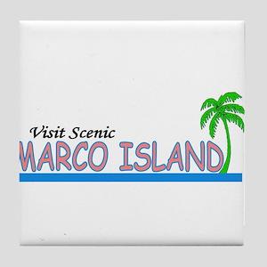 Visit Scenic Marco Island, Fl Tile Coaster