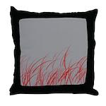 Red Grass Throw Pillow
